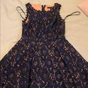 Navy blue flowered Dress